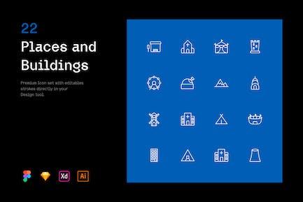 Lugares y Edificios - Iconuioo