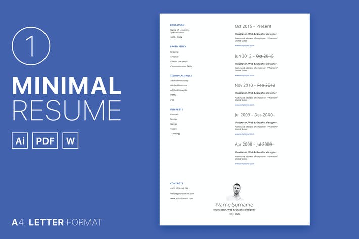 Thumbnail for Minimal Resume 01
