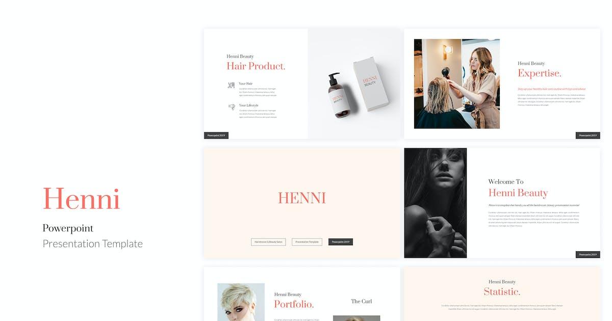 Download Henni - Beauty Salon Powerpoint Template by kylyman