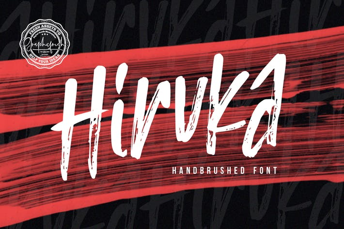 Thumbnail for HIRUKA - Handbrushed Font