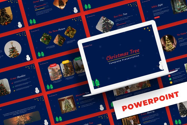 Christmas Tree - Powerpoint Template