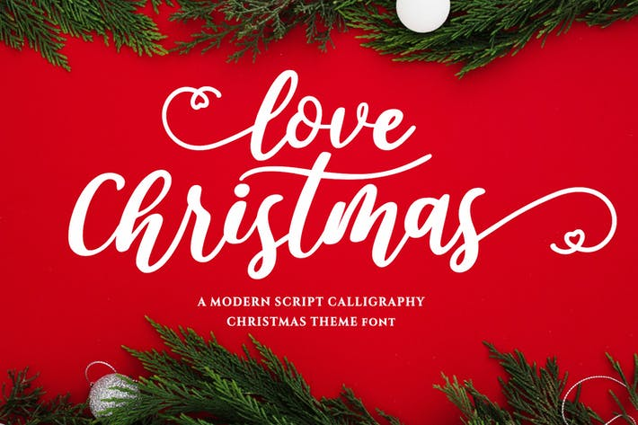 Thumbnail for Love Christmas - Fonte de calligraphie moderne