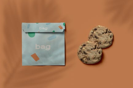 Bag And Cookie Mockup