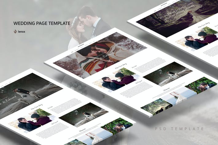 Thumbnail for Wedding PSD Template
