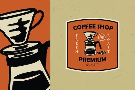 Vintage Coffee Shop Logo Badge