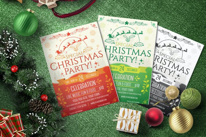 Thumbnail for Christmas Party - Flyer Template
