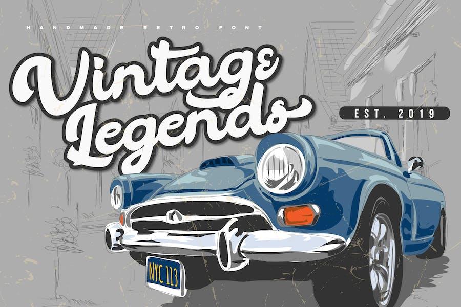 Vintage Legends | Handwritten Retro Font