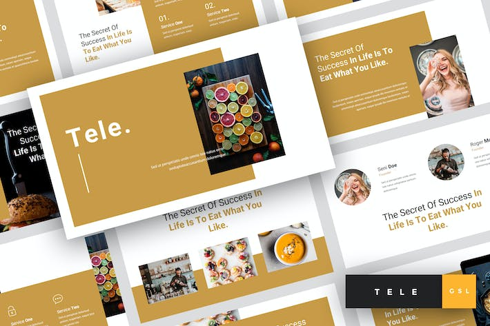 Thumbnail for Tele - Food Google Slides Template