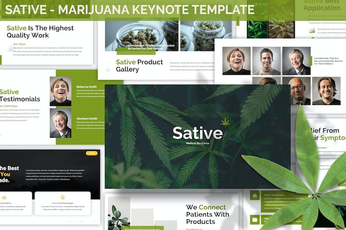 Thumbnail for Sative - Marijuana Keynote Template