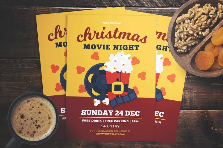 Thumbnail for Christmas Movie Night Flyer