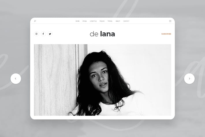 Thumbnail for De Lana - Persönliche Blog PSD Vorlage