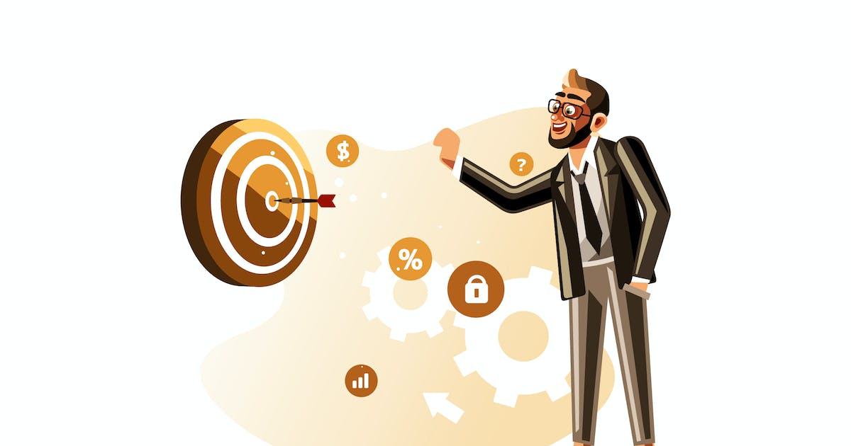 Download Businessman throwing dart to the target by IanMikraz