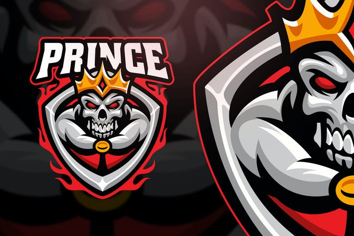 Thumbnail for Prince Skull Esport and Sport Logo Template
