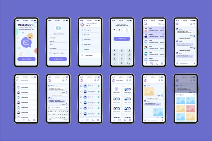 Messenger Unique Mobile App UI Kit