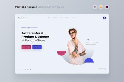 Portfolio Resume Web Design UI Kit Templates