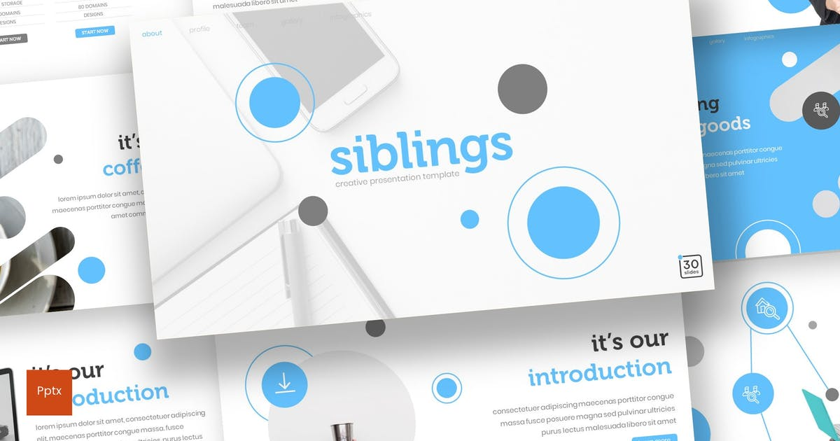 Download Siblings - Powerpoint Template by inspirasign
