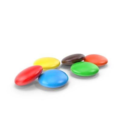 Bunte Schokolade Süßigkeiten