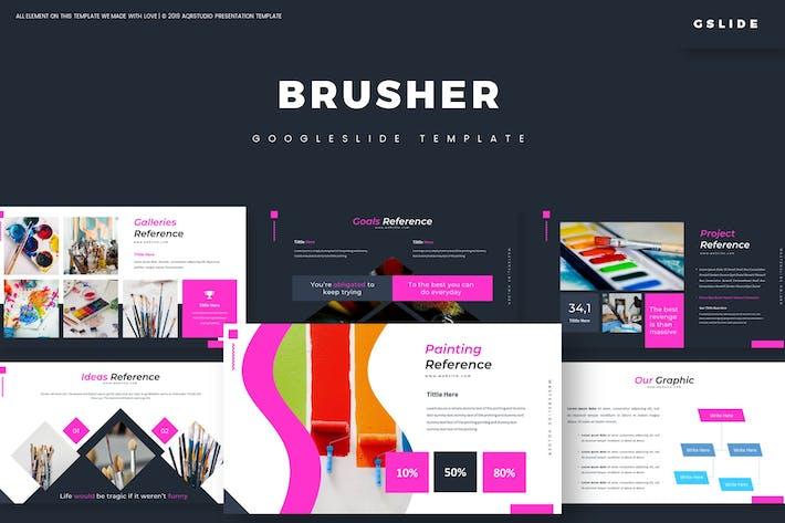 Thumbnail for Brusher - Google Slides Template