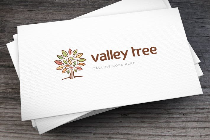 Thumbnail for Valley Tree Logo Template