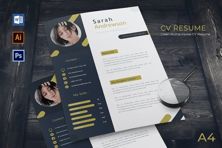 Thumbnail for Creative Stylish Resume Template Vol.01