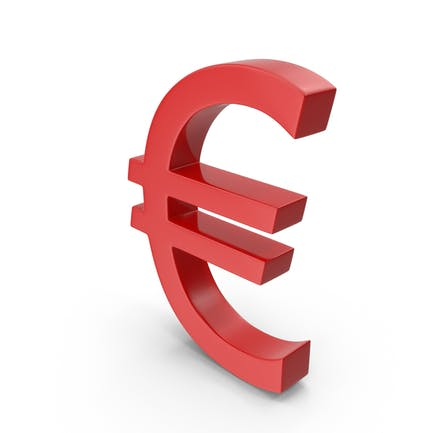 Currency Euro Red