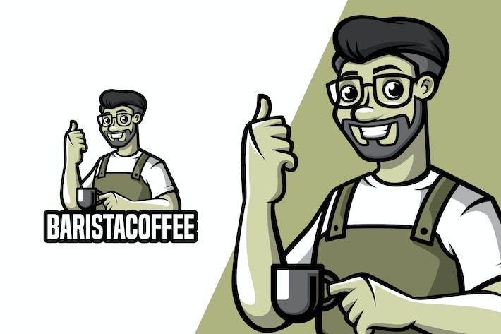 Thumbnail for Café Barista - Mock-up Mascotte