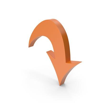 Flecha naranja