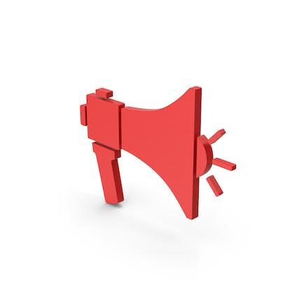 Symbol Megaphone Red