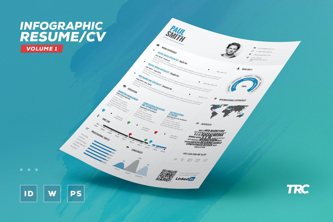 Infographic Resume/Cv Volume 1 By Paolo6180 On Envato Elements