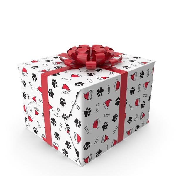 Caja de regalo de Navidad.