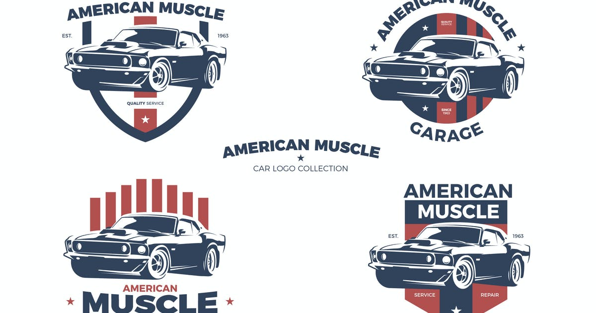Download American Muscle Car Logo Collection by andrewtimothy