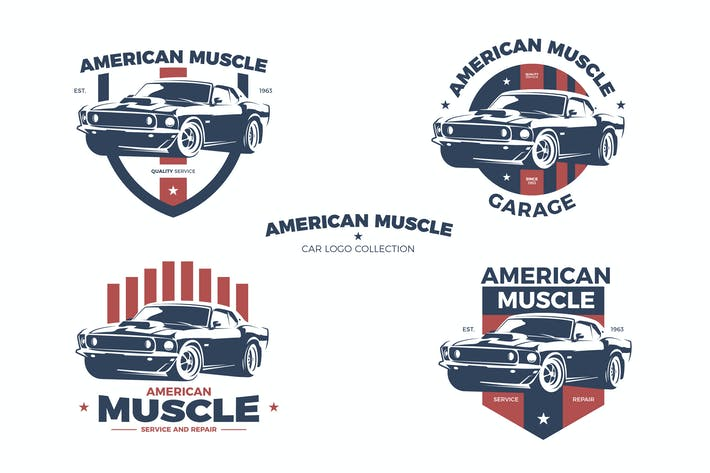 American Muscle Car Logo Collection By Andrewtimothy On Envato Elements