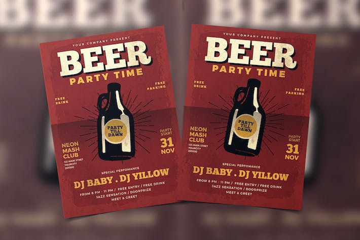 Thumbnail for Beer Party Flyer