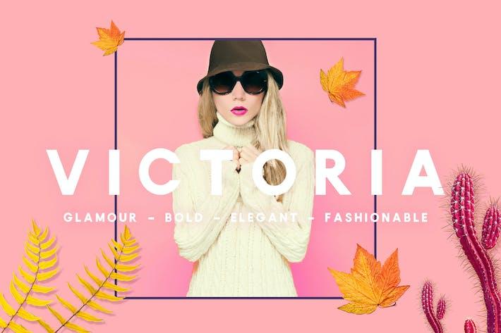 Thumbnail for VICTORIA - Glamour, Elegant  Sans serif
