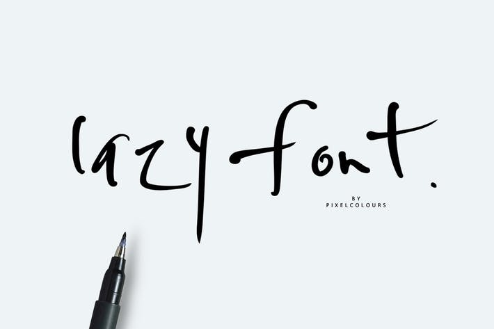 Lazy Font Free Style