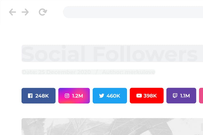 Social followers bar for WordPress