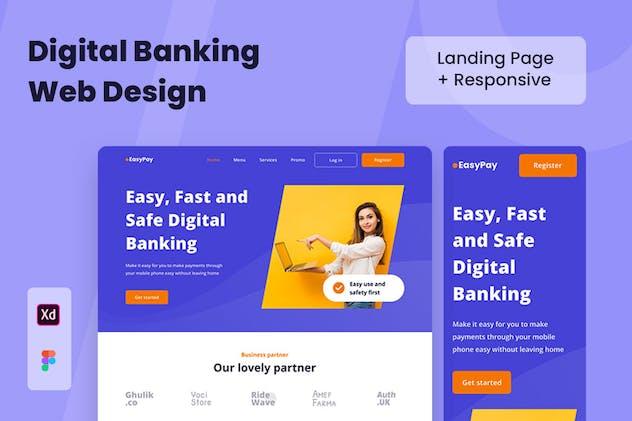 Digital Banking Web Design