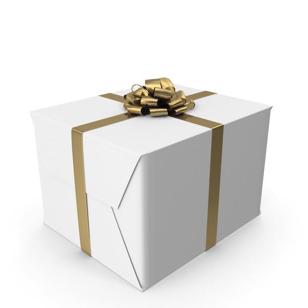 Caja de regalo blanca.