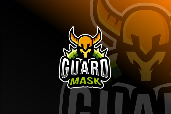 Thumbnail for Guard Mask Esport Logo Template