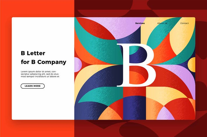 Thumbnail for Letter B - Banner & Landing Page