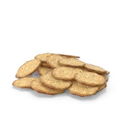 Pila de galletas octágonas con condimento
