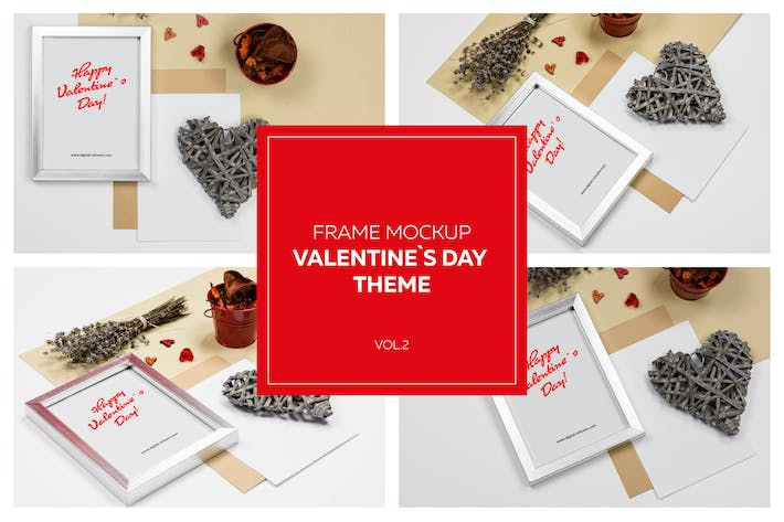 Thumbnail for Frame Mockup VOL.2 - Valentine`s Day Theme