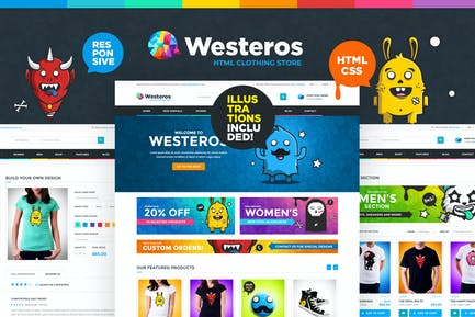 Westeros - Clothing Market and Shop HTML Template