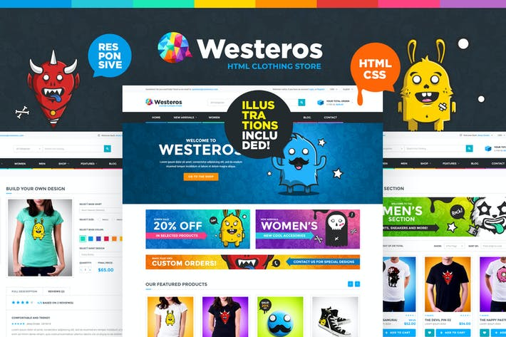 Thumbnail for Westeros - Clothing Market and Shop HTML Template