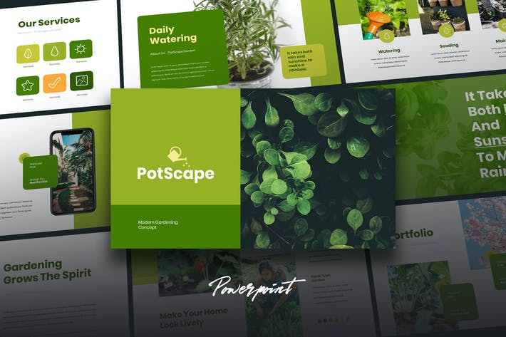 Thumbnail for Postcape - Green Business Powerpoint Template