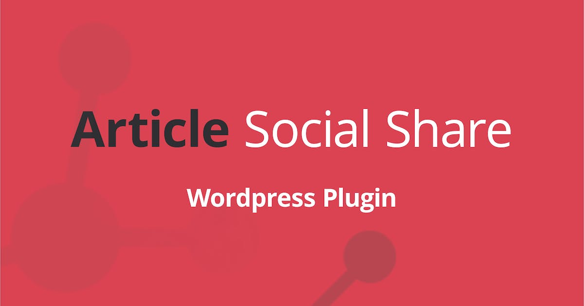 Download WordPress Article Social Share by DPereyra