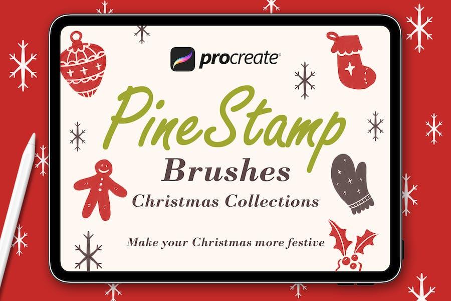 PineStamp - Procreate Brush