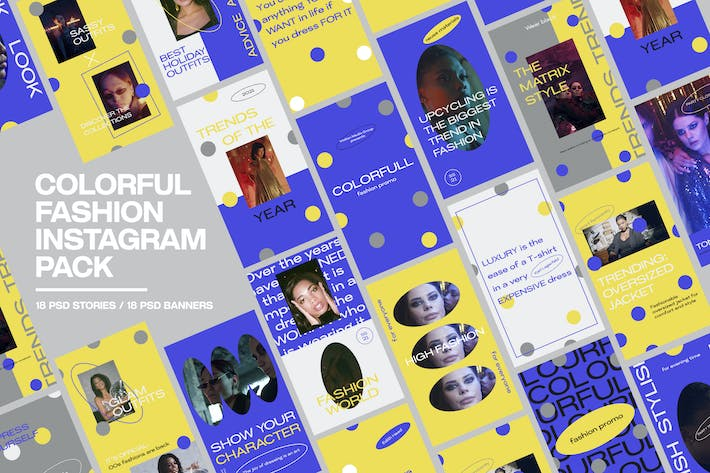 Colorful Fashion Instagram Pack