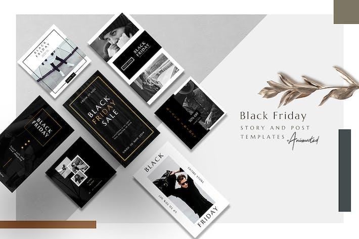 Thumbnail for Animated Instagram Basic Pack - Black Friday