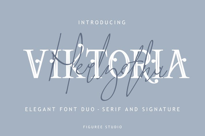 Thumbnail for Viktoria - Elegant Font Duo